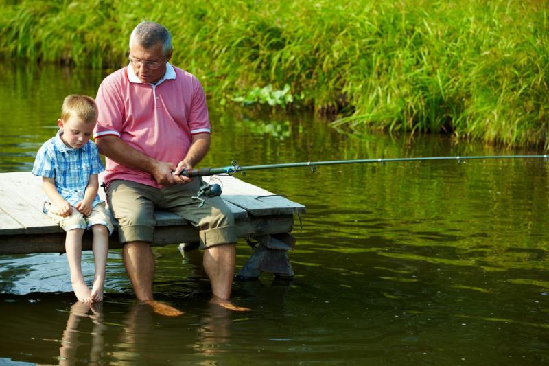 стихи внук на рыбалке
